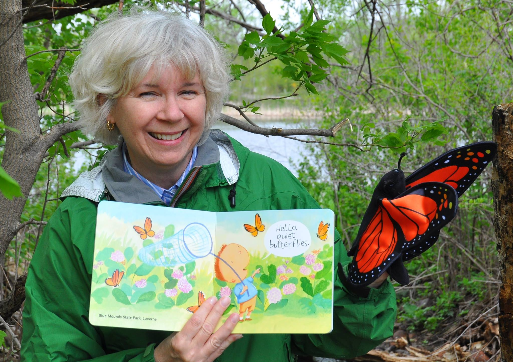 Connie Van Hoven with Hello, Minnesota! and butterfly