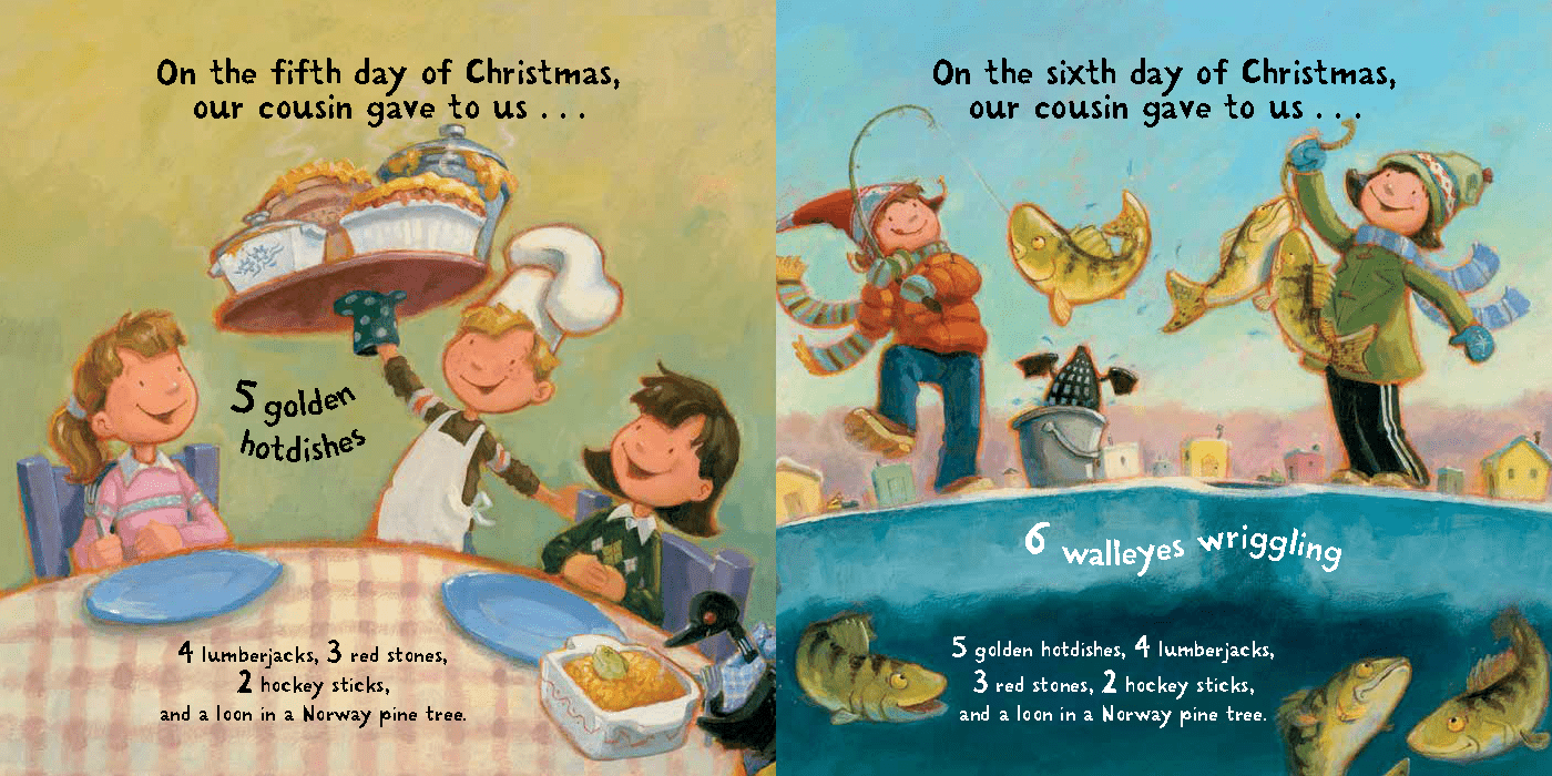 Page from The Twelve Days of Christmas in Minnesota